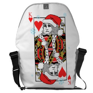 Merry Christmas King of Hearts Courier Bag