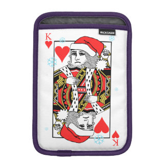 Merry Christmas King of Hearts iPad Mini Sleeve