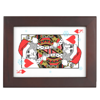 Merry Christmas King of Hearts Keepsake Box