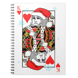 Merry Christmas King of Hearts Notebook