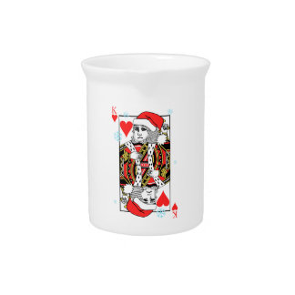 Merry Christmas King of Hearts Pitcher