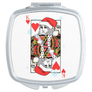 Merry Christmas King of Hearts Travel Mirrors