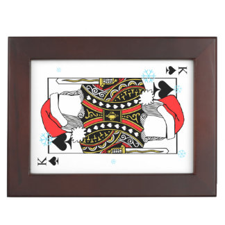 Merry Christmas King of Spades - Add Your Images Keepsake Box