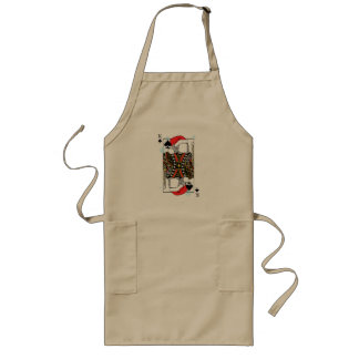 Merry Christmas King of Spades - Add Your Images Long Apron