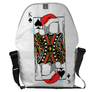 Merry Christmas King of Spades - Add Your Images Messenger Bags