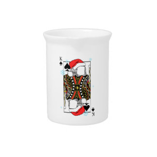 Merry Christmas King of Spades - Add Your Images Pitcher