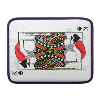 Merry Christmas King of Spades - Add Your Images Sleeves For MacBook Air