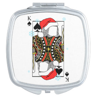 Merry Christmas King of Spades - Add Your Images Travel Mirrors