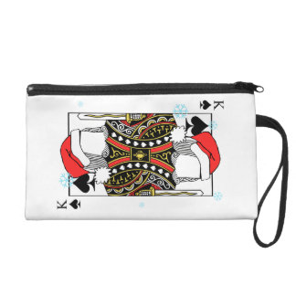 Merry Christmas King of Spades - Add Your Images Wristlet