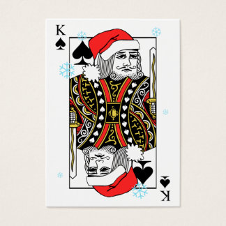 Merry Christmas King of Spades Business Card