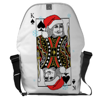 Merry Christmas King of Spades Courier Bags