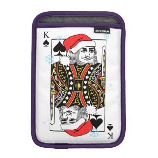 Merry Christmas King of Spades iPad Mini Sleeve