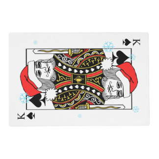 Merry Christmas King of Spades Laminated Placemat
