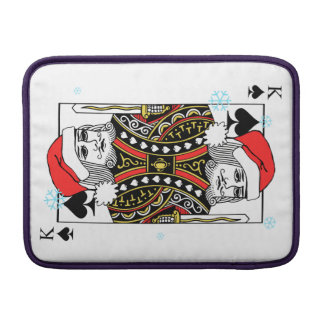 Merry Christmas King of Spades MacBook Sleeve