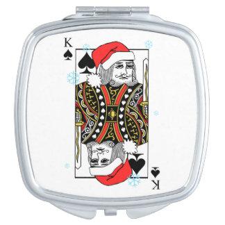 Merry Christmas King of Spades Makeup Mirror