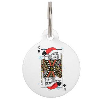 Merry Christmas King of Spades Pet Tag