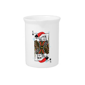 Merry Christmas King of Spades Pitcher