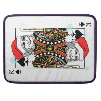 Merry Christmas King of Spades Sleeve For MacBooks
