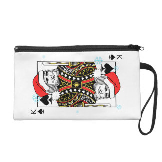 Merry Christmas King of Spades Wristlet