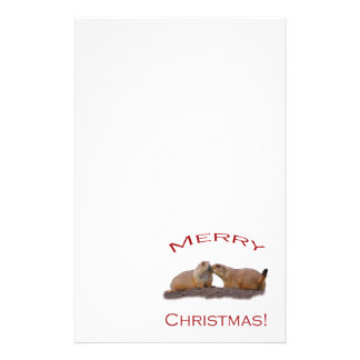Merry Christmas Kiss Personalized Stationery