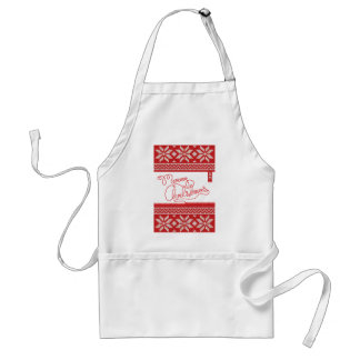 Merry Christmas Knitted Standard Apron
