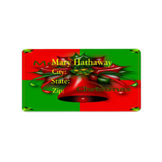 Merry Christmas Label Address Label