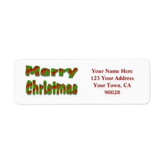 Merry Christmas Return Address Label