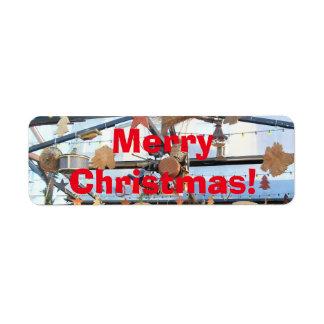 Merry Christmas Label Return Address Label