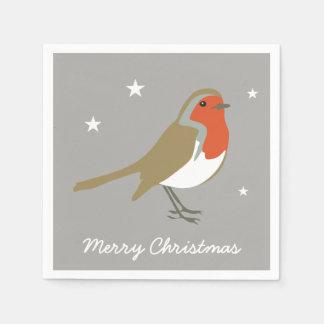 Merry Christmas Large Red Robin Napkins Serviettes Paper Napkins