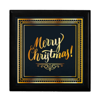 Merry Christmas Large Square Gift Box
