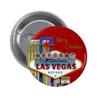 Merry Christmas Las Vegas Magnet Buttons