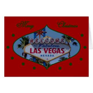 Merry Christmas Las Vegas Ornament Card