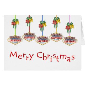 Merry Christmas Las Vegas Sign Logos Card