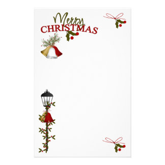 Merry Christmas Letter Stationery Paper