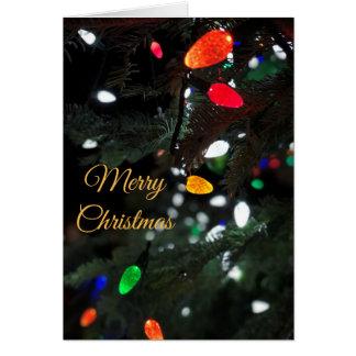 Merry Christmas Lights Card