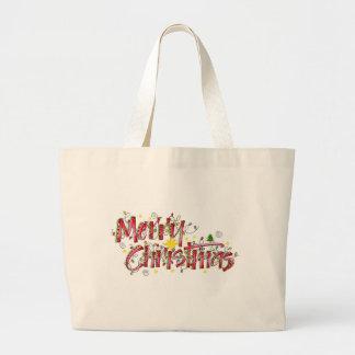 Merry Christmas lights Jumbo Tote Bag