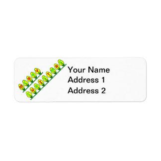 Merry Christmas Lights Return Address Label