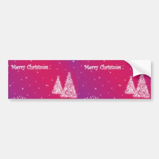 merry christmas lilac bumper sticker