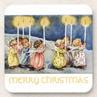Merry Christmas Little Angels Beverage Coasters
