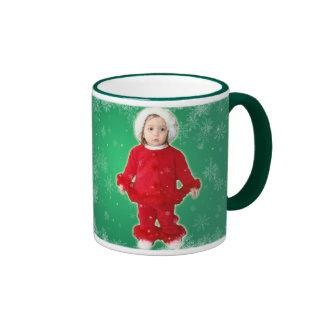 Merry Christmas little baby girl Ringer Mug