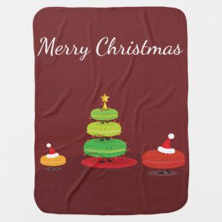Merry Christmas Macarons | Baby Blanket