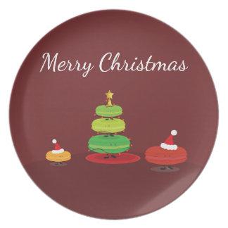 Merry Christmas Macarons | Melamine Plate