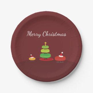 Merry Christmas Macarons | Paper Plate