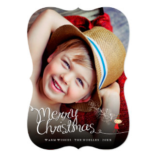 Merry Christmas Magical Fun Elf Holiday Photo Card 13 Cm X 18 Cm Invitation Card