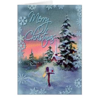 MERRY CHRISTMAS MAILBOX by SHARON SHARPE Card