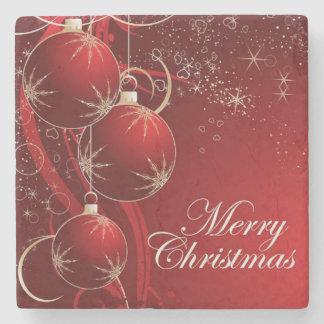 Merry Christmas, Merry Xmas Stone Beverage Coaster