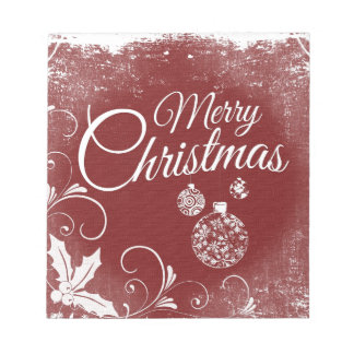 merry christmas message notepad