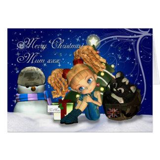 Merry Christmas Military Mum UK Greeting Card