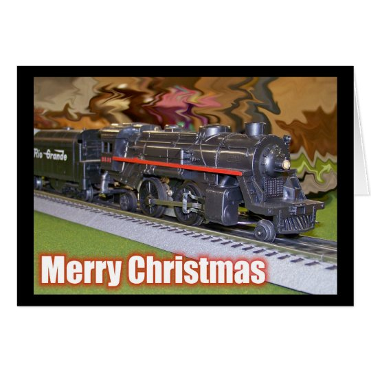 Merry Christmas Model Train Card