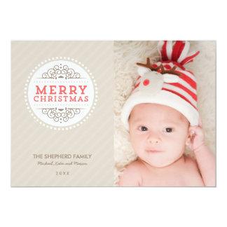Merry Christmas Modern Holiday Photo Card 13 Cm X 18 Cm Invitation Card